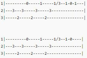 Земфира - Искала - Табы вступления для 2-ой гитары