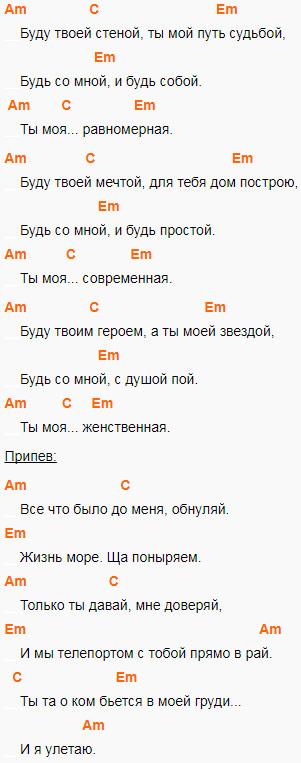 Кравц - Обнуляй. Аккорды и слова1
