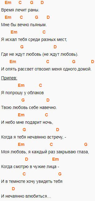 Макс Барских - Моя любовь. Аккорды для гитары. Слова