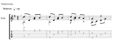 Мелодия на гитаре - Маленькой елочке холодно зимой. Ноты, табы2