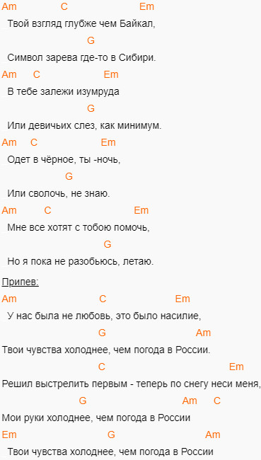 Алена Швец - Нелюбовь. Аккорды на гитаре, слова песни