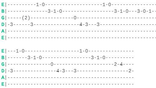 КиШ - Медведь. Табы соло гитары