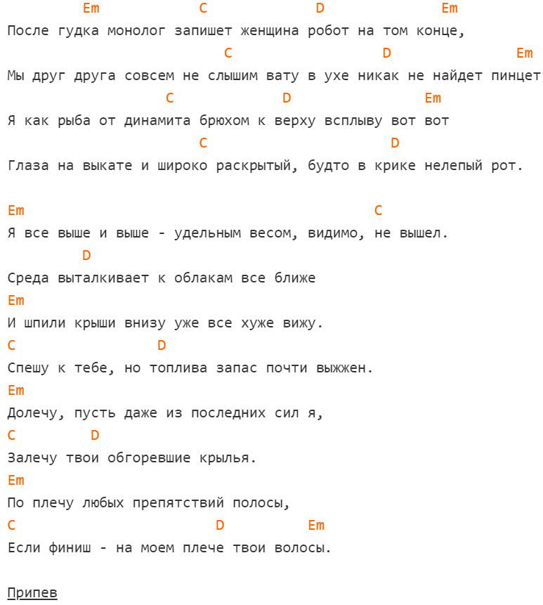 Noize MC - Питерские крыши Аккорды, слова, на гитаре